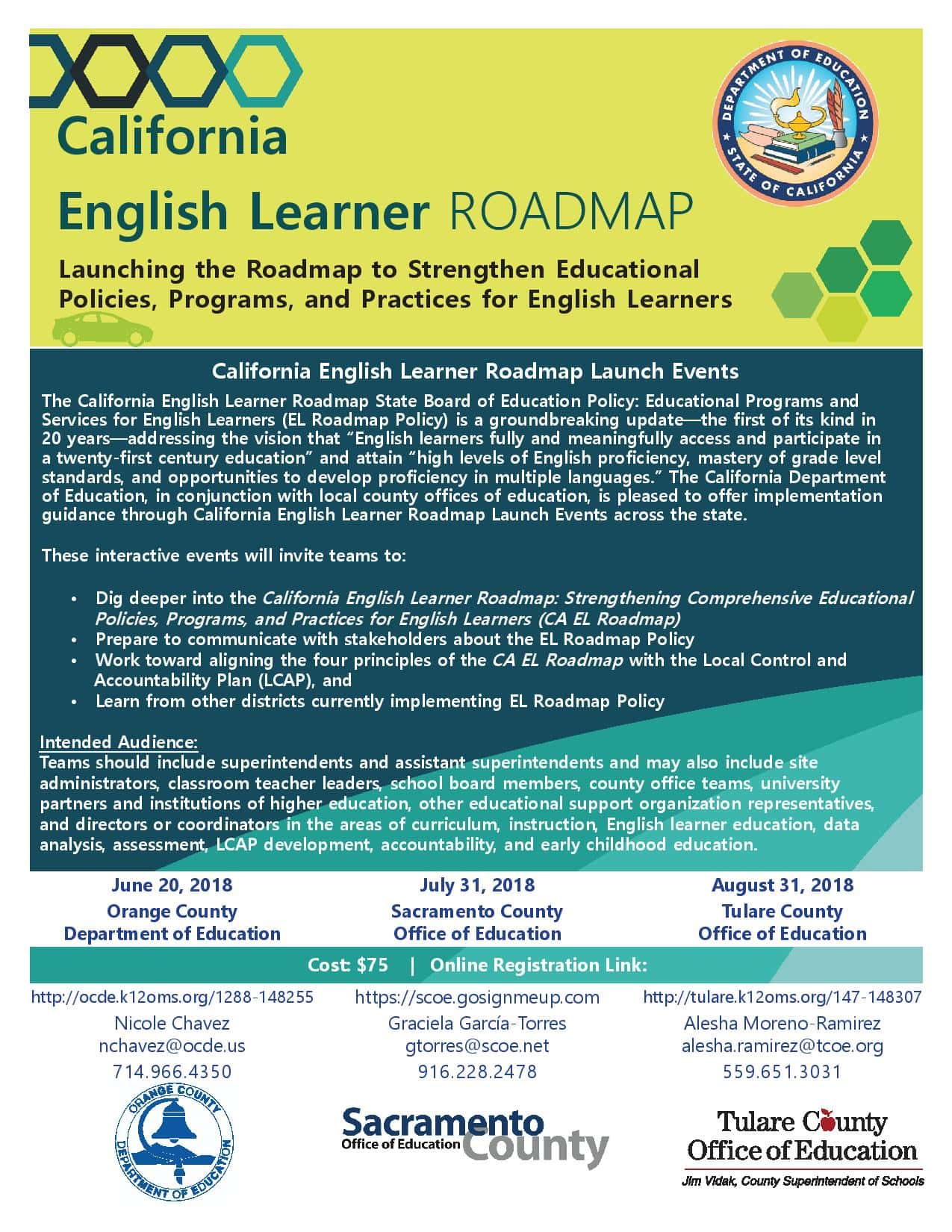 U S Department Of Education Launches New English Learner >> June 20 July 31 August 31 Ca English Learner Roadmap Workshops